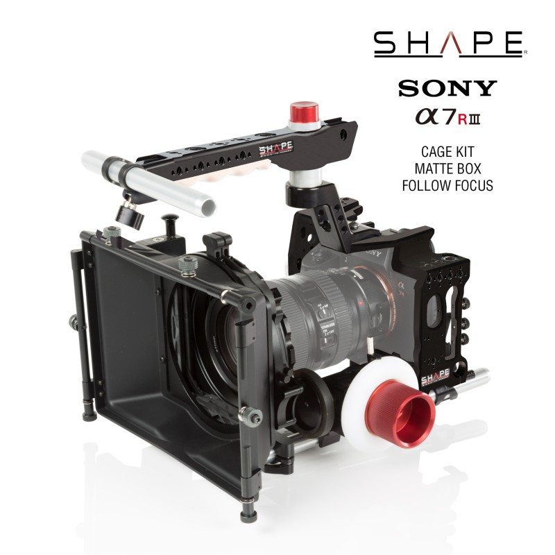 SHAPE Sony A7R3 Cage Kit Matte Box Follow Focus