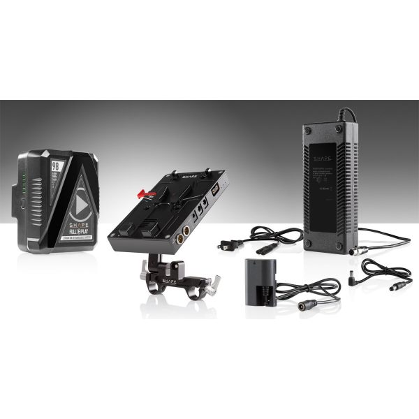 SHAPE 98Wh Batterie Kit D-Box Camera Power und Charger für die Canon 5D, 7D, LP-E6 Serie