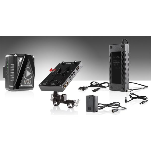 SHAPE 98Wh Batteriekit D-Box Camera Power und Charger für Sony A7 Serie