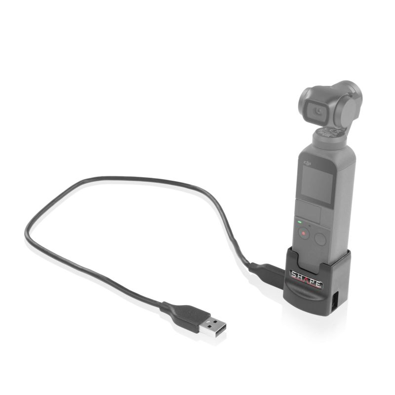 Charging port and mount adapter 1/4-20 for osmo pocket