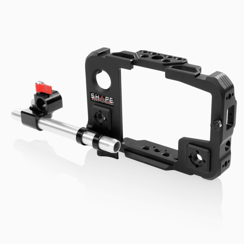 SHAPE cage for Atomos Shinobi monitor with 15 mm LWS swivel rod clamp