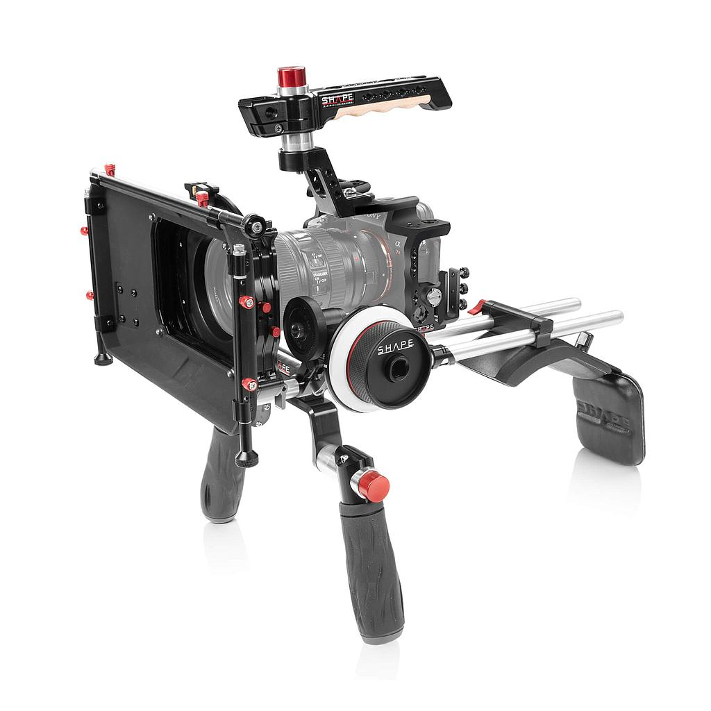 SHAPE Sony A7R4 Shoulder Mount Matte Box Follow Focus