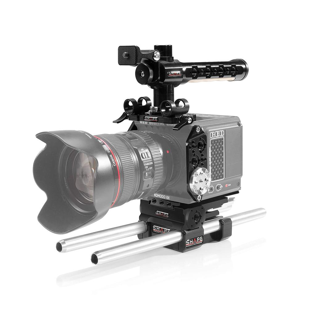 SHAPE full camera cage with 15 mm LW rod system for RED Komodo