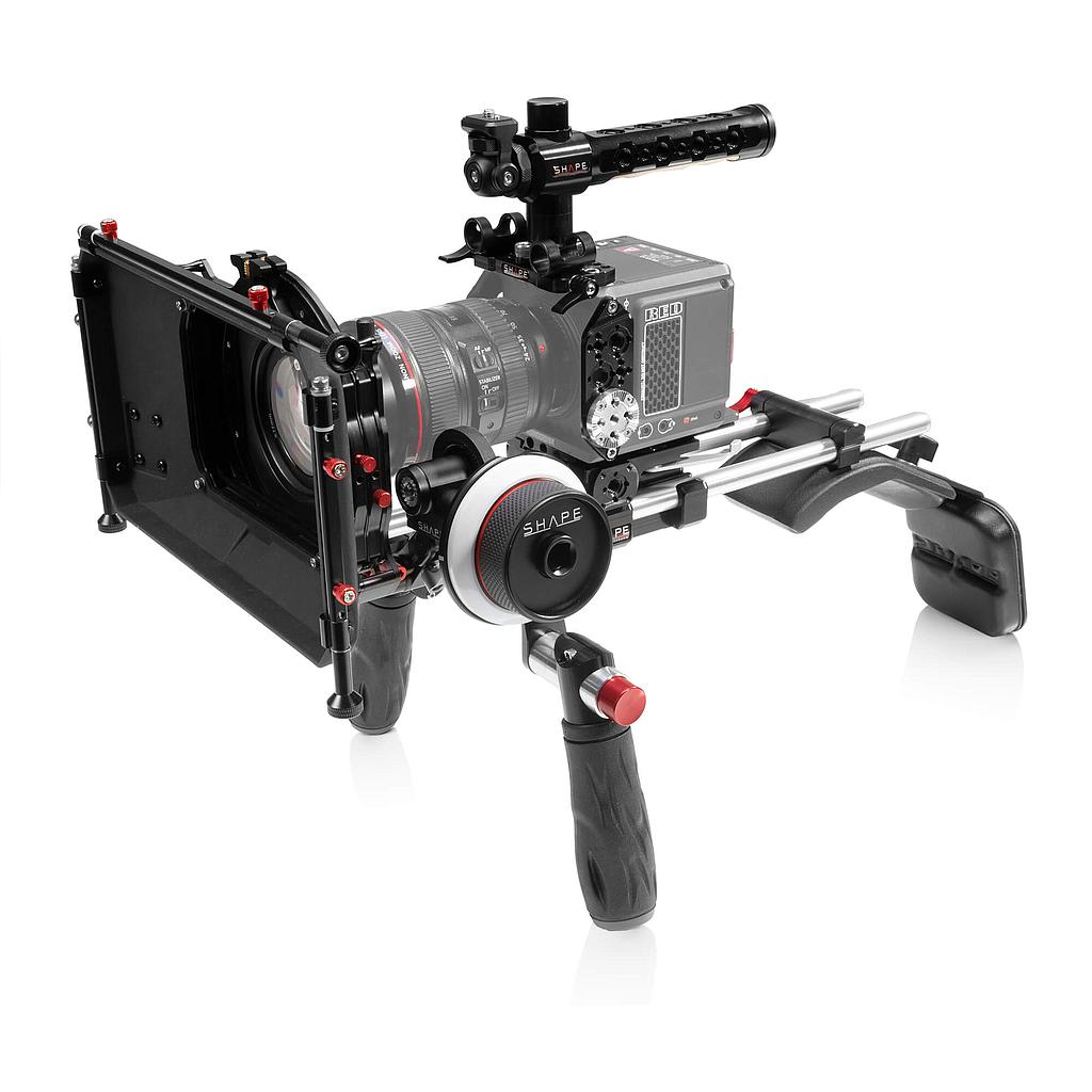 SHAPE RED Komodo shoulder mount with Matte Box and Follow Focus