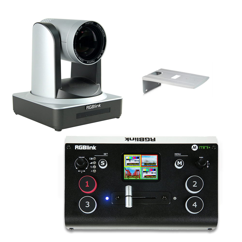 RGBlink PTZ Camera 12x incl. Wall Mount and Mini+ Switcher